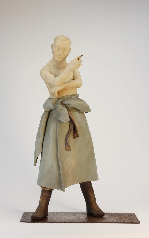 la pause-sandra courlivant -sculpture-argile