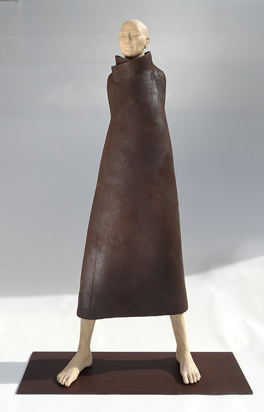 Ancrage, sculpture en argile