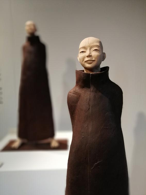 Sculpture en terre, personnages de Mongolie