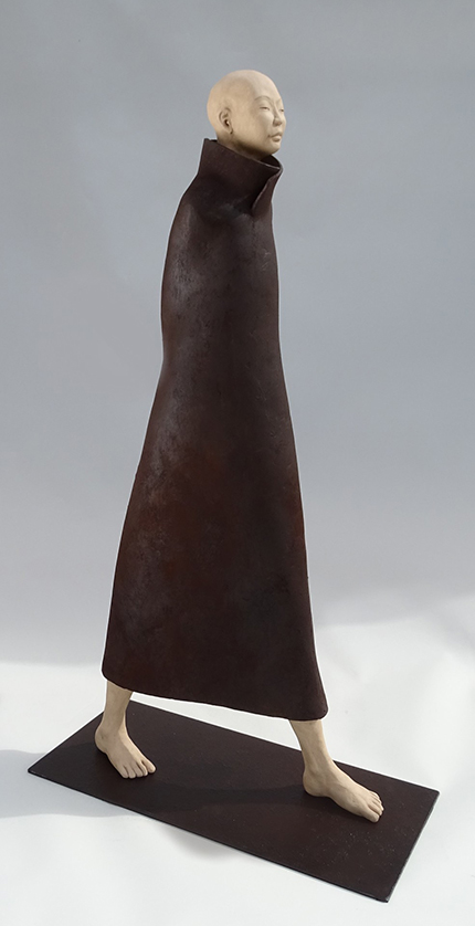 Cheminement, sculpture en terre