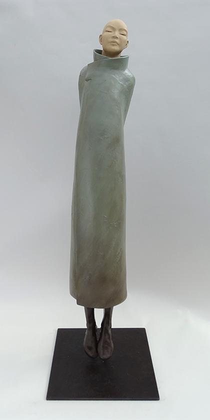 Élévation, sculpture en terre de Sandra Courlivant