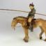Sculpture de Sandra Courlivant : un cavalier dans les steppes