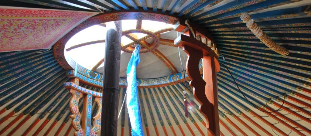 Plafond d'une yourte de Mongolie