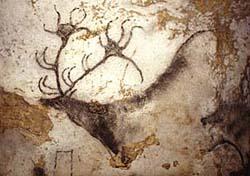 Fresque de cerf à Lascaux