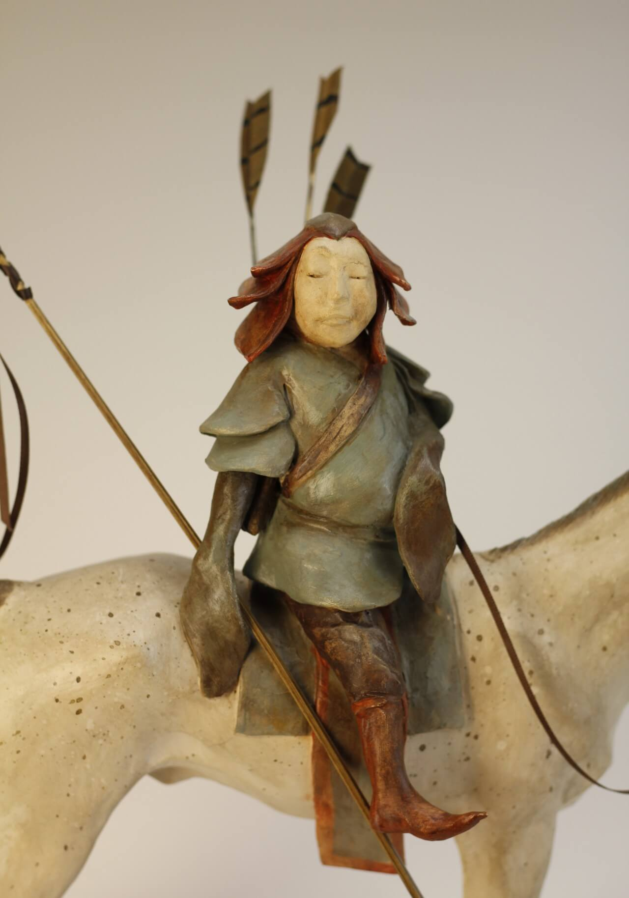 sculpture-céramique-cavalier