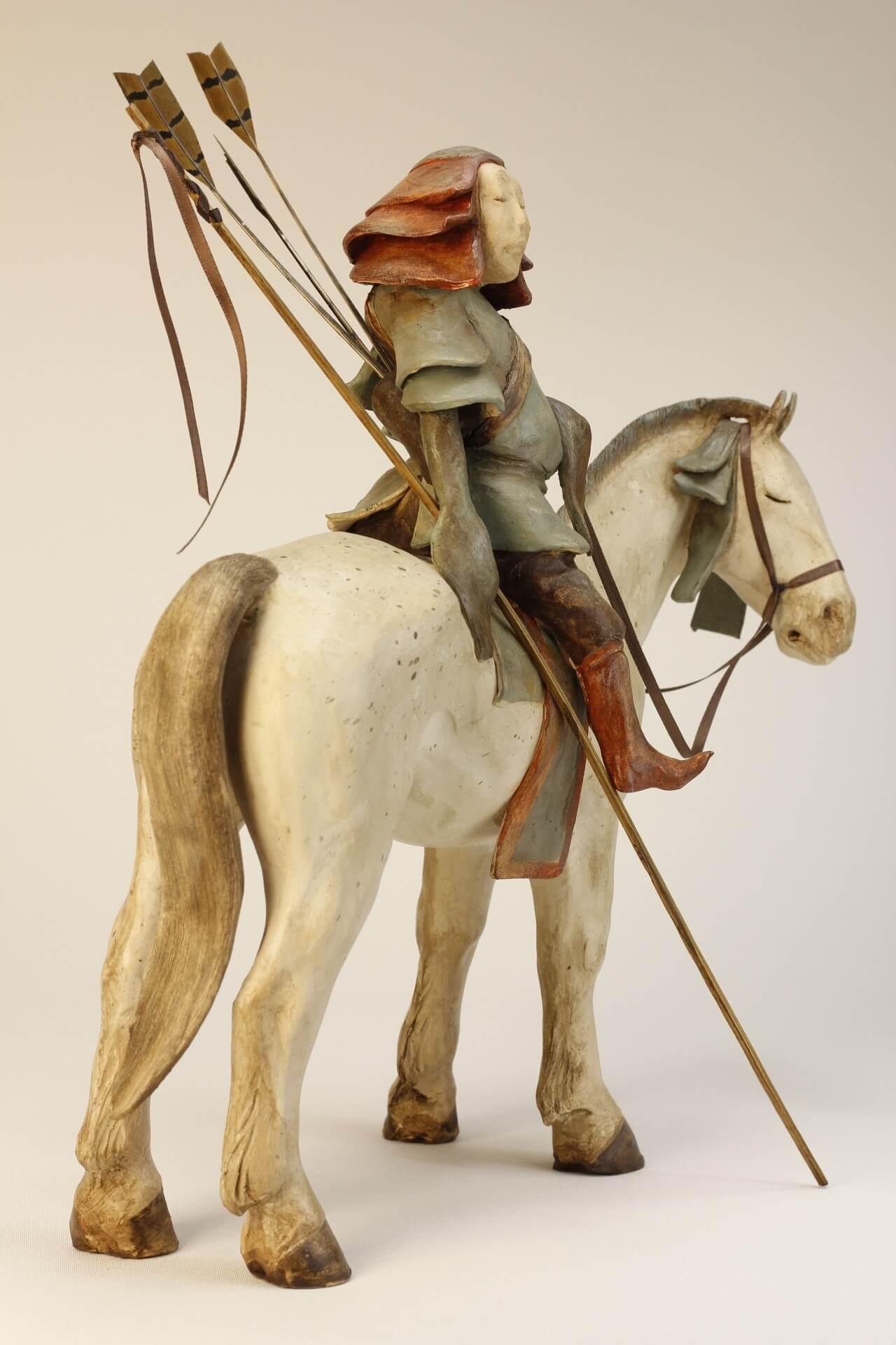 prince de mongolie-sculpture-céramique